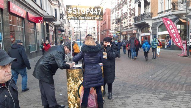 Ostatnie dni sprzeciwu obywatelskiego przeciw 447